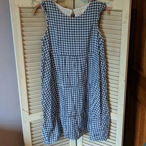Lands End gingham dress